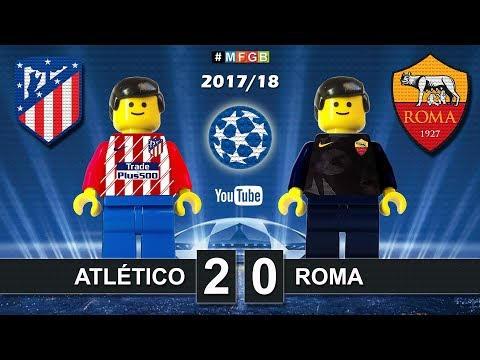 Atletico Madrid vs Roma 2-0 • Champions League 2018 (22/11/2017) Goals Highlights Lego Football
