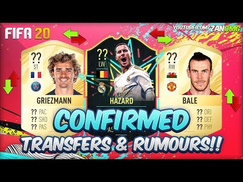 FIFA 20 | CONFIRMED TRANSFERS & RUMOURS!! | FT. HAZARD, GRIEZMANN, BALE…