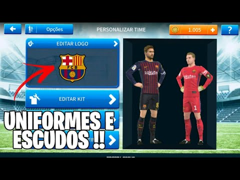 Como colocar Kits e logos no Dream league soccer 2019 ( Uniformes e escudos ) !!