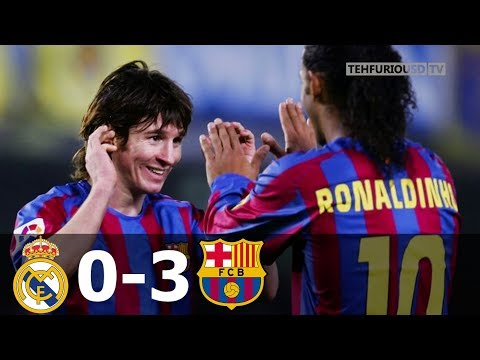 Real Madrid vs FC Barcelona 0-3 Goals and EXT Highlights w/ English Commentary (La Liga) 2005-06 HD
