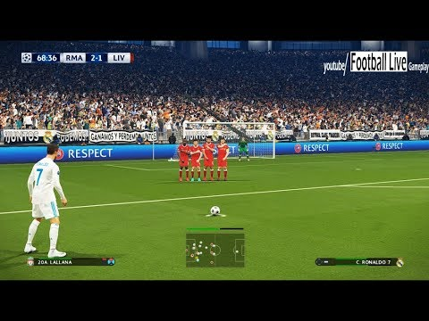 PES 2018 | Real Madrid vs Liverpool | 2 Free Kick Goal | Final UEFA Champions League (UCL)