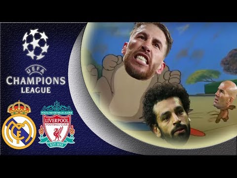 Real Madrid VS Liverpool : 3-1 😂The champions league final Tom & Jerry's parody 😜 26/05/2018 HD