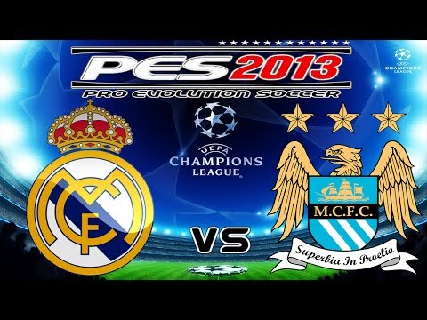 PES 2013 UEFA Champions League Real Madrid vs Manchester City