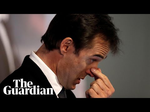 Julen Lopetegui cries as he is unveiled as Real Madrid's new coach