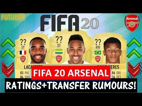 FIFA 20 | ARSENAL PLAYER RATINGS!! FT. AUBAMEYANG, LACAZETTE, NERES ETC..(TRANSFER RUMOURS INCLUDED)
