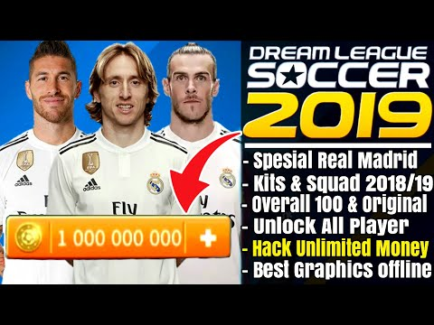 Download Dream League Soccer 2019 Mod Real Madrid | Overall 100 Unlock Player Hack Unlimited Money