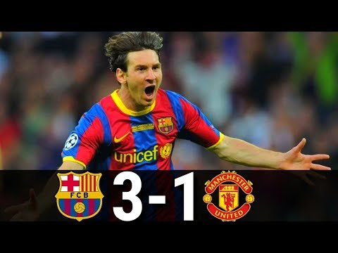 Barcelona vs Manchester United 3-1- UCL Final-2011 | Highlights and Goals