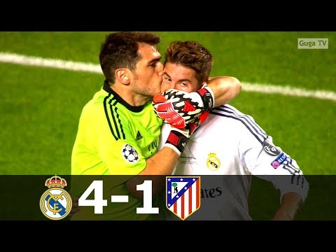 Real Madrid vs Atletico Madrid 4-1- UCL Final 2014 (English Commentary) HD