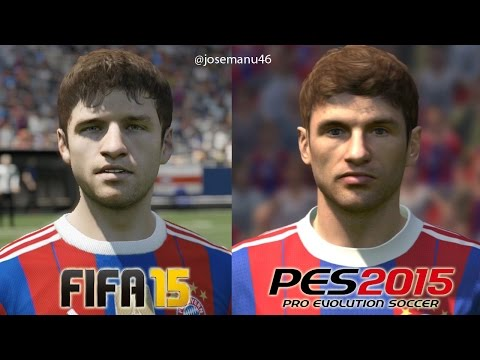 FIFA 15 vs PES 2015 BAYERN MUNICH Face Comparison