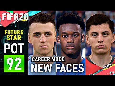 FIFA20 U20 FUTURE STARS IN CAREER MODE (Real Face List)