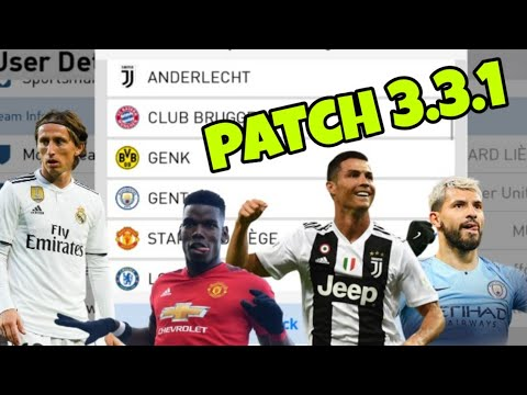 PES 19 mobile Patch v3.3.1 Juventus,Manchester,real madrid(logo+kit)