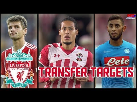 Top 5 Liverpool Transfer Targets in January 2018