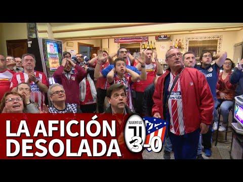 Juventus 3-Atlético 0 | Así vivió la afición del Atlético la eliminación de su equipo | Diario AS