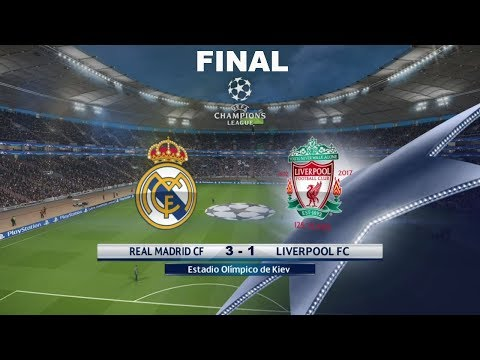 Final Real Madrid vs Liverpool 3 – 1 | GOLES | UEFA CHAMPIONS LEAGUE 2018 | PES 2018 | Recreacion