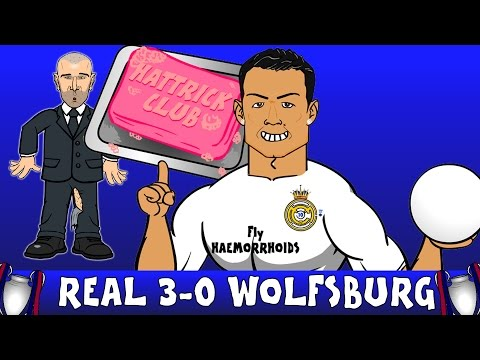 CRISTIANO RONALDO HAT-TRICK! Real Madrid vs VFL Wolfsburg 3-0 (Champions League PARODY 2016)