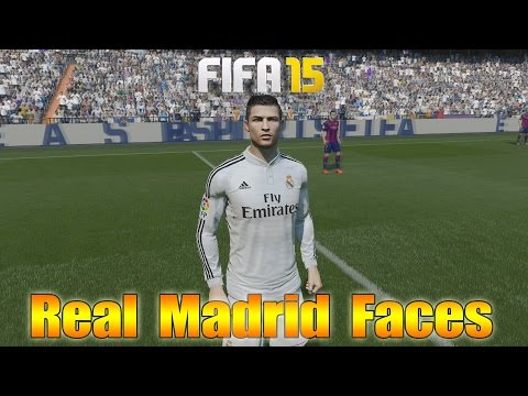 Fifa 15 | Real Madrid Player Faces | feat. Ronaldo, James, Bale & more | by PHDxG