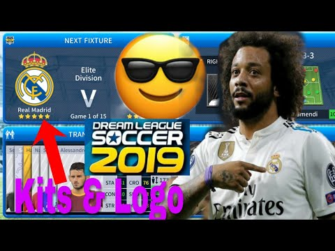 How To Create Real Madrid Team 2019 Kits & Logo | Dream League Soccer 2019