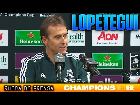 Rueda de prensa de Lopetegui previa Manchester United – Real Madrid | ICC 2018