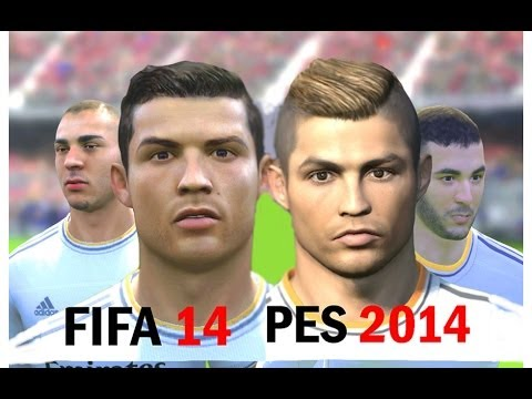 FIFA 14 vs PES 2014 Faces – Real Madrid (Face Comparison)