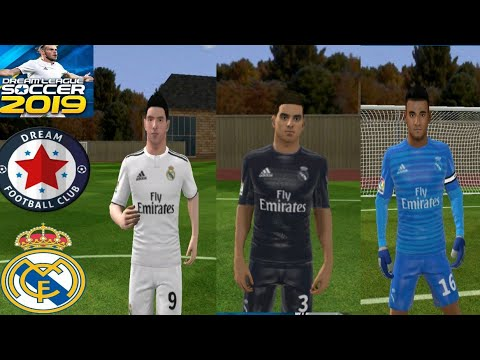 Real Madrid Kit 2018-2019 And Logo – Dream League Soccer 2019