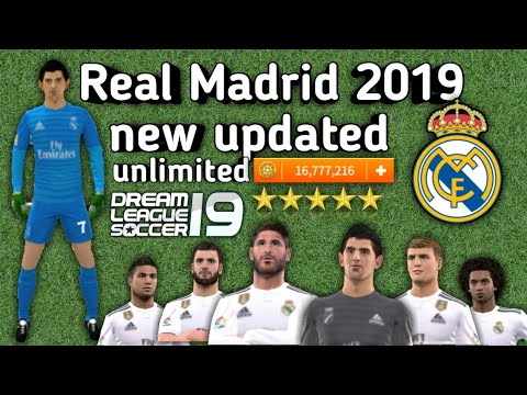 Real Madrid🔰 2019 new updated full team download now profile.dat and enjoy Dream League Soccer 2018