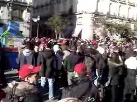ULTRAS DELLA ROMA IN TRASFERTA A MADRID 2008