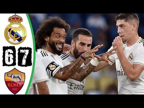 Real Madrid vs Roma 2-2 (4-5) – All Goals & Extended Highlights (11/08/2019)