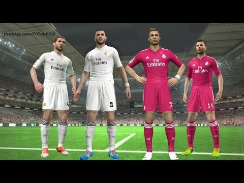 PES 2014 – Real Madrid New Kits 2014 – 2015 ║ Home/Away ║