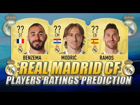 FIFA 20 | REAL MADRID CF PLAYERS RATINGS PREDICTION | w/ Ramos, Modric & Benzema