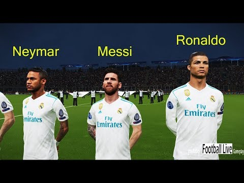 L.Messi & Neymar going to Real Madrid?   Juventus vs Real Madrid   UEFA champions league PES 2018
