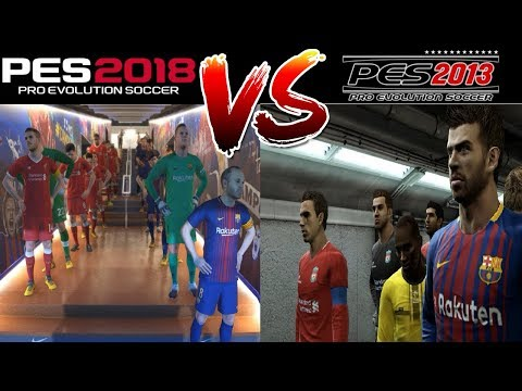 PES 2018 vs PES 2013 Gameplay Comparison – FC Barcelona vs Liverpool FC