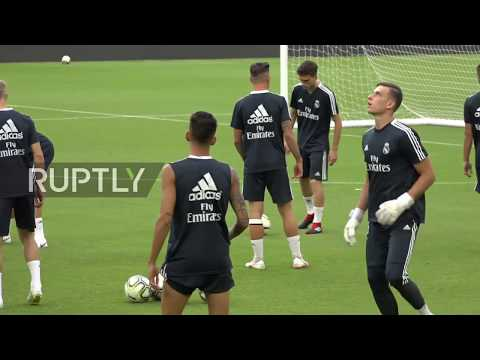 USA: Real Madrid train ahead of Manchester United match in Miami