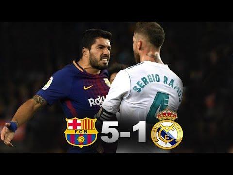 Fc Barcelona Vs Real Madrid 5-1 HD highlights