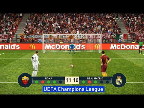 ROMA vs REAL MADRID | Penalty Shootout | UEFA Champions League – UCL | PES 2019 Gameplay PC