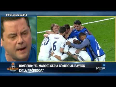 """Roncero, eufórico: """"Nadie quería al Bayern y el Madrid le ha metido seis"""""""
