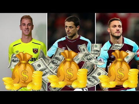 West Ham United Players Salaries 2018 (Weekly Wages)