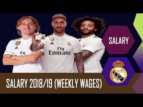 Real Madrid Football Players Per Week Salaries 2018/2019