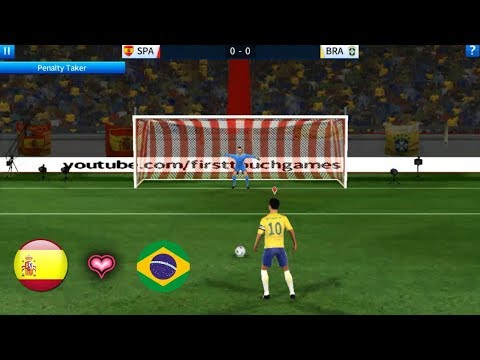 PENALTY : Spain vs Brazil ★ Dream League Soccer 2018 Gameplay