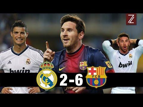 TOP 5 Partidos donde el Barcelona humilló al Real Madrid | Zicrone21