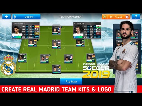 How To Create Real Madrid Team Kits And Logo In Dream League Soccer 2019