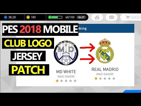 PES 2018 Mobile PATCH Kits and Club LOGO [ Android / iOS ]
