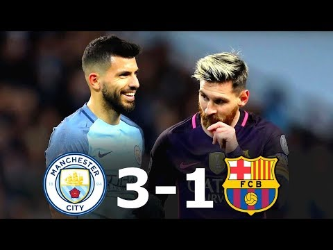 Manchester City 3-1 Barcelona – All Goals & Full Highlights UCL 2016/17