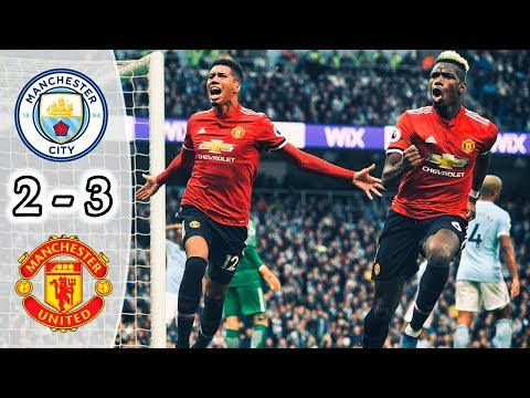 Manchester City vs Manchester United 2-3 | All Goals & Highlights | Premier League 2017/18