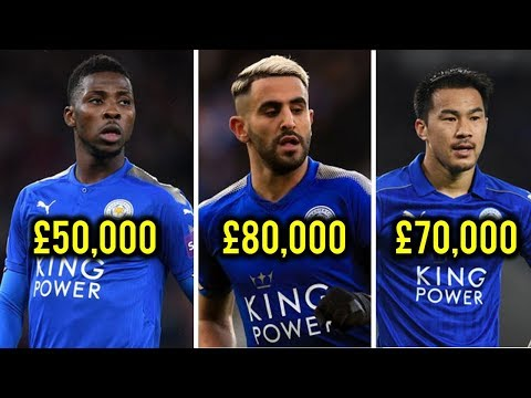Leicester City Football Players weekly Salaries 2018