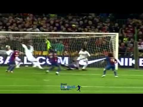 This was Leo Messi's first hat trick, aged 19, against Real Madrid.