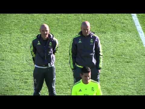 Zinedine Zidane's 1st training session as Real Madrid manager