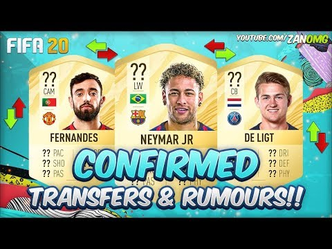 FIFA 20 | CONFIRMED TRANSFERS & RUMOURS!! | FT. NEYMAR, DE LIGT, JAMES…