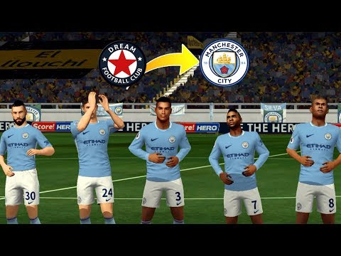 Create Man City Team ★ Kits Logo & Players ★ Dream League Soccer 2018