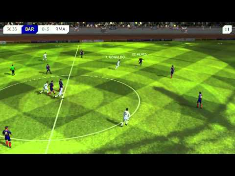 DREAM LEAGUE SOCCER – Real madrid vs Barcelona (full team) 2015 Enjoy