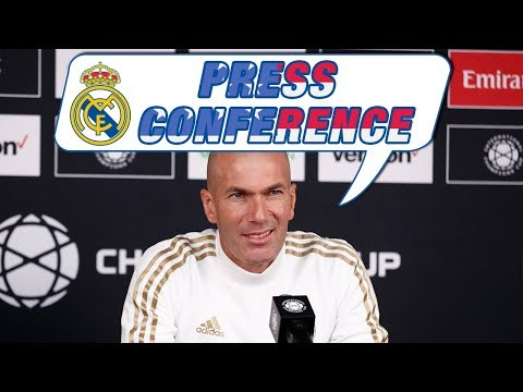 Zidane's press conference before Real Madrid vs Arsenal!